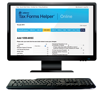 Adams Tax Forms Helper Online