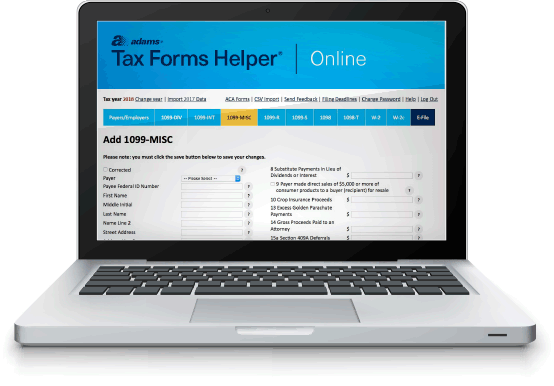 Adams Tax Forms